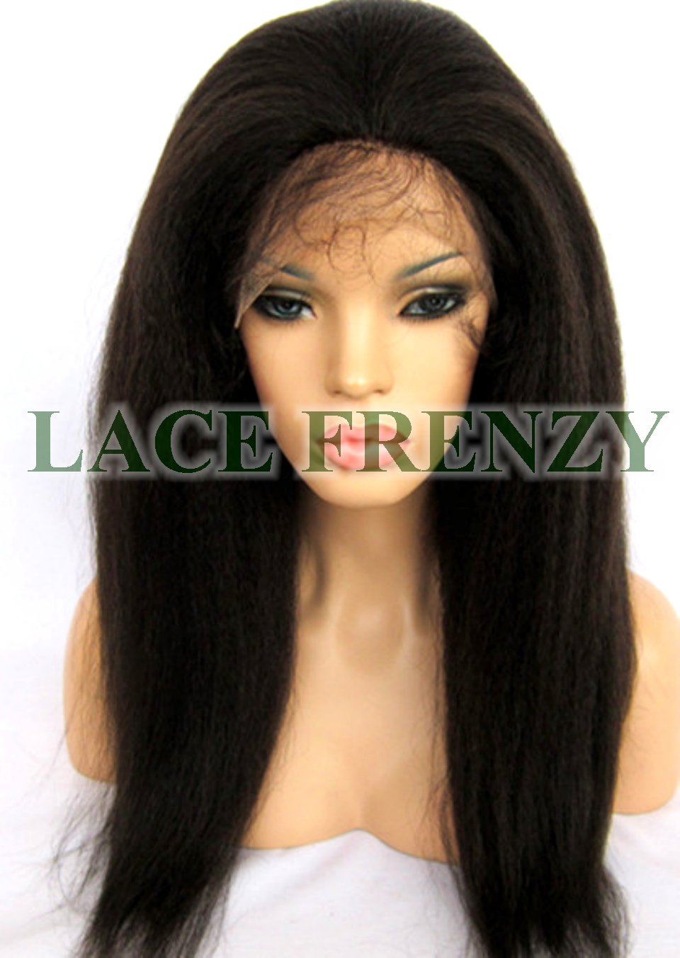 Bev - Kinky Straight - Brazilian Virgin Hair - Silk Top Lace Front Wig