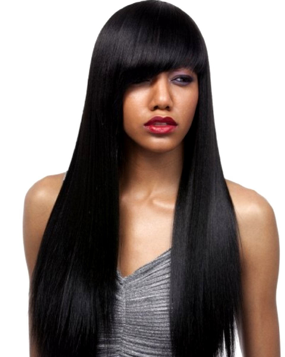 Yaki Straight - Brazilian Virgin - Double Drawn- Halo Flip-In Extension