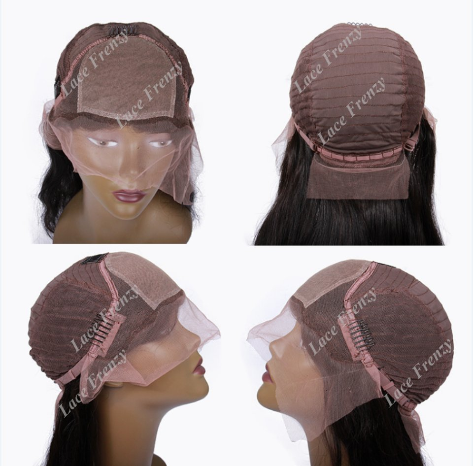 silk top lace front wig cap construction