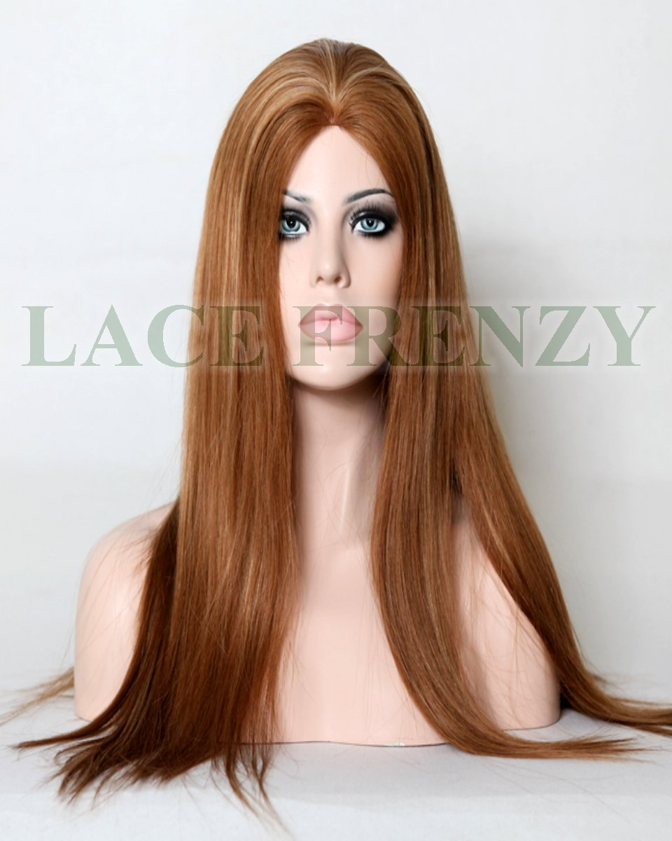 Irene - 20 Inches - Straight - European Virgin Hair - Silk Top Glue-Less Wig