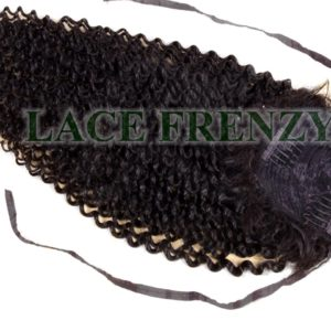 Human hair kinky curly clip in ponytail