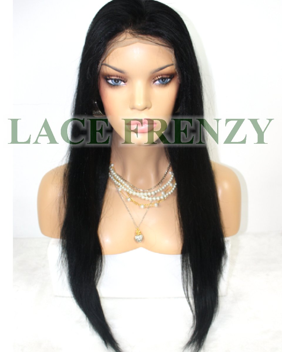 Brazilian virgin hair silk top lace front wig