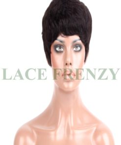 Maggy- 6 Inches- Boy Cut- Indian Remy Hair- Machine Made Wig