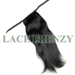 Natural straight human hair ponytail