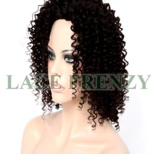 Indian virgin spiral curl Glueless full lace wig