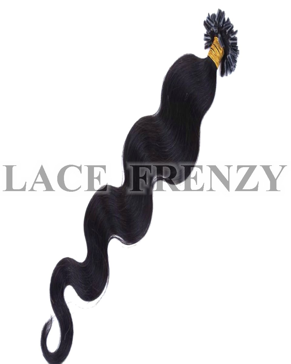 Body wave u-tip hair extension