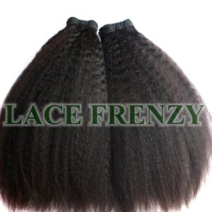 Kinky Straight - Grade 7A Virgin Hair- 200G Machine Weft - Bundle Kit