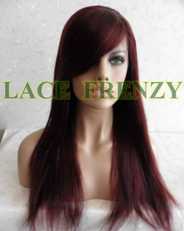 Corinthia - 18 Inches -Indian Remy Hair- Soft Yaki w/ Side Bang - Lace Front Wig