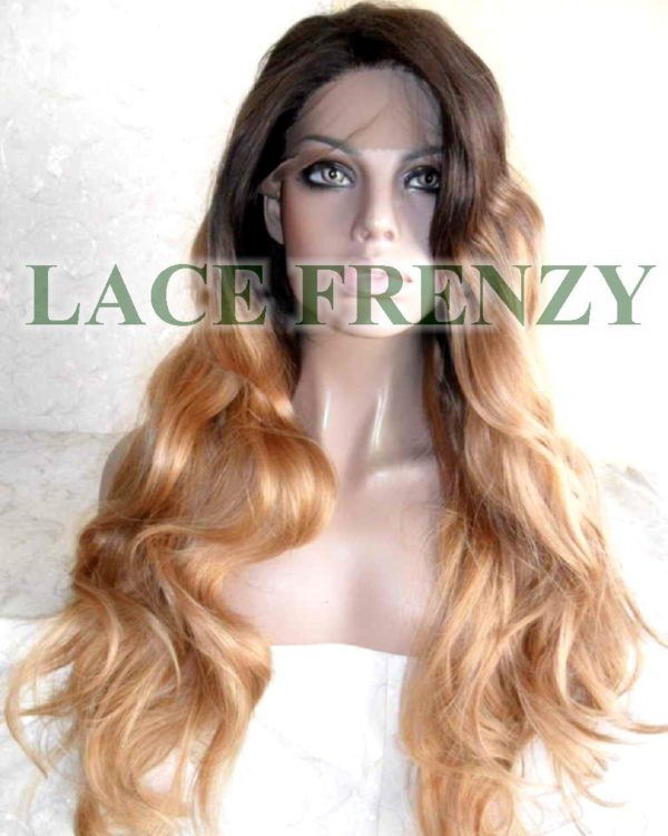 Lace Frenzy Wigs long wavy two toned lace front wig
