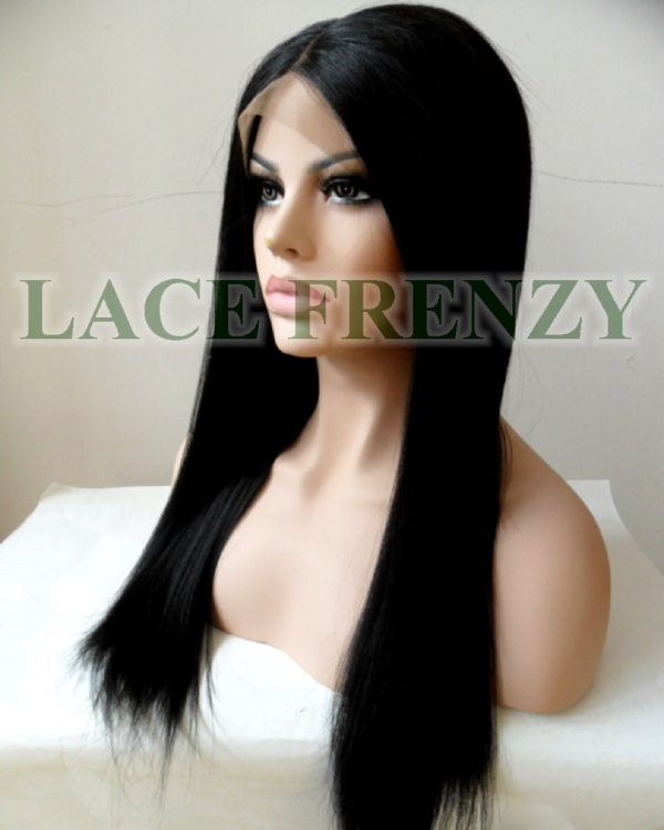 Heat safe lace front wig in color 1b