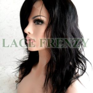 Ashlyn - Natural Wavy w/Side Bang - Silk Top Full Lace Wig