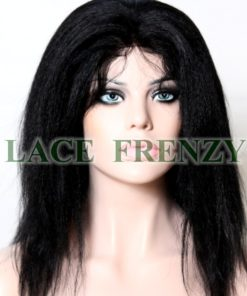 Kenya -Kinky Straight-Indian Virgin Hair -Glueless Full Lace Wig