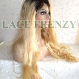 Shelia - Two Toned - Natural Straight - Brazilian Virgin Hair - Full Lace Wig