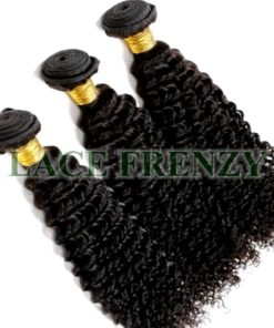 Peruvian Virgin Hair - Kinky Curl - Layered - Machine Weft Bundle Kit