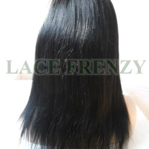 Corryn -14 inches -Indian Remy Hair -Light Yaki w/Side Bang -Lace Front Wig