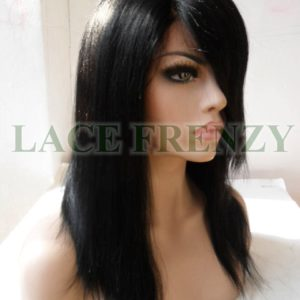 Corrine -14 inches -Indian Remy Hair -Light Yaki w/Side Bang -Lace Front Wig