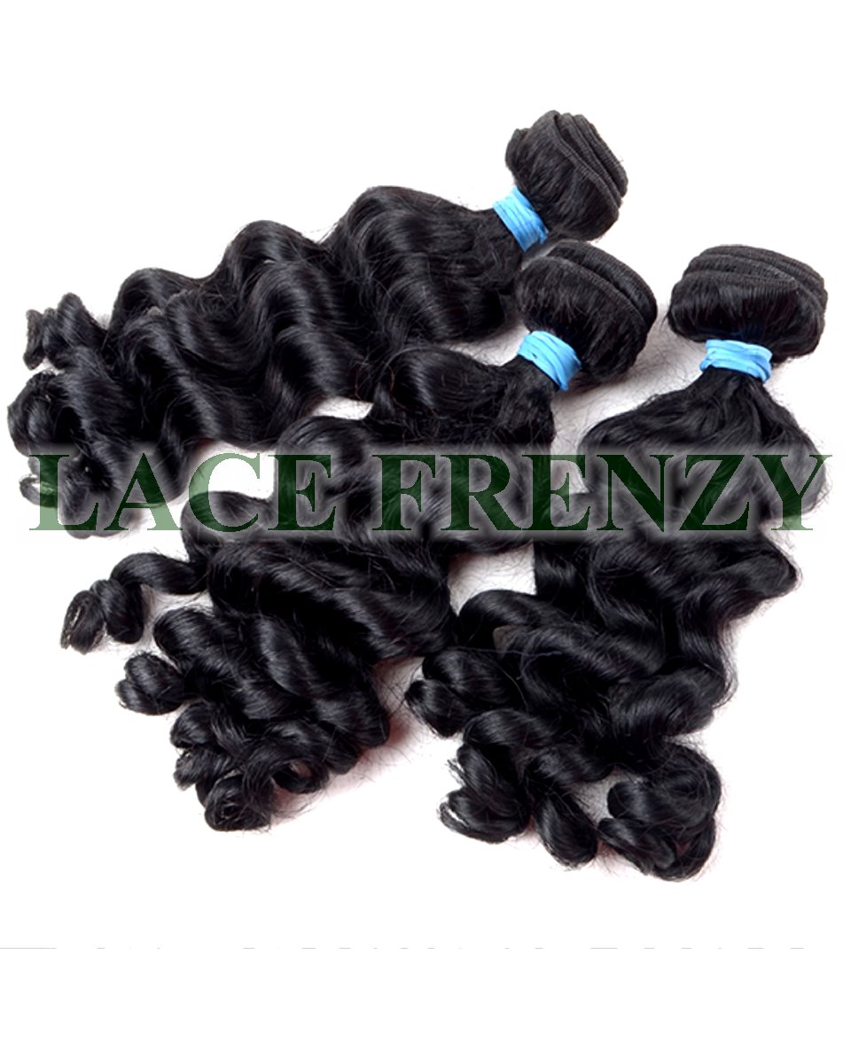 Cambodian Virgin Hair- Wavy- Layered Machine Weft Bundle Kit