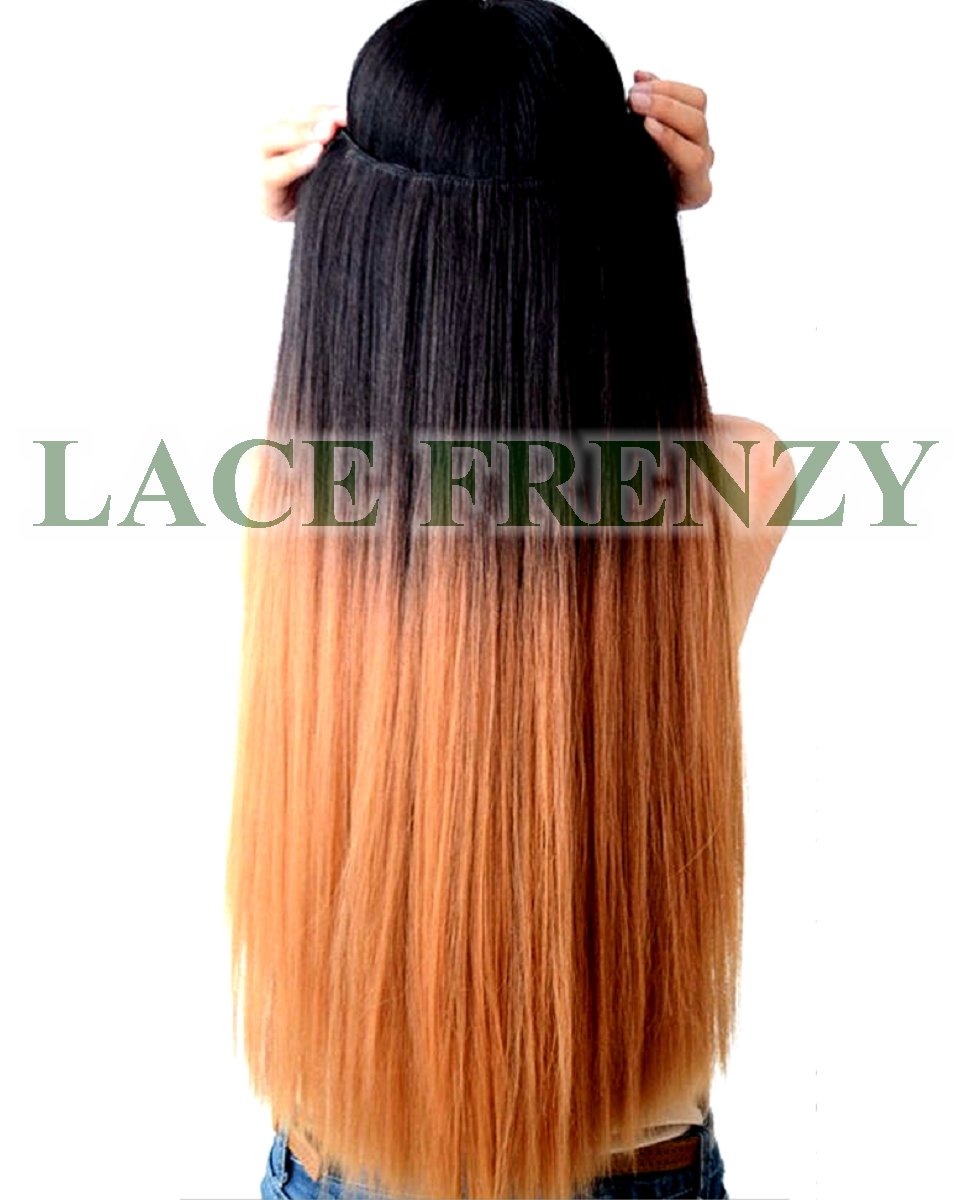 Custom Ombre -Grade 8A Virgin Hair - One Piece Clip-in Hair Extension