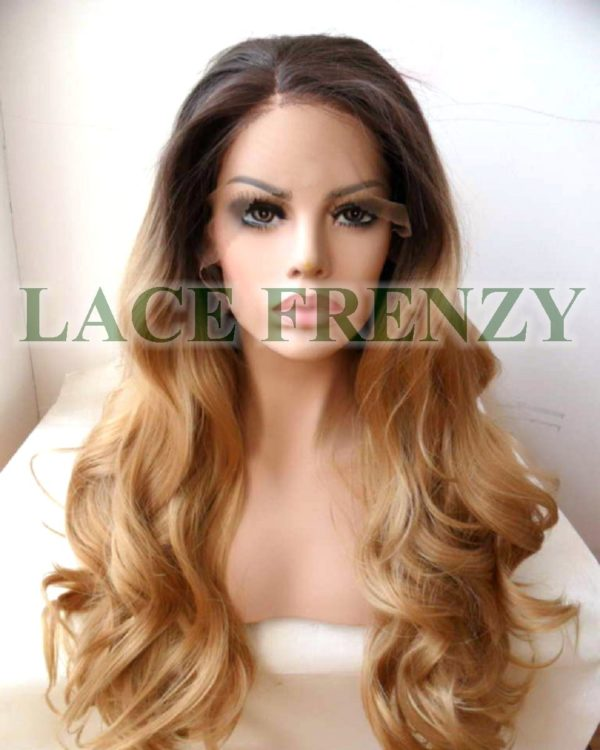 Yasmine - Two Toned - Body Curl - Lace Front Wig