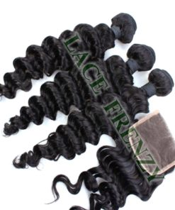 Wavy - 5x5 Inches - Lace Top Closure and 300G- Layered- Machine Weft Bundle Kit