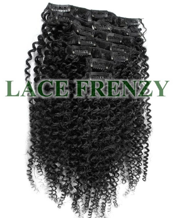 Brazilian Virgin Hair - Afro Curly- 7pcs Clip-In Hair Extension