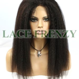 Beca- 18 Inches - Kinky Straight - Brazilian Virgin Hair- Lace Front Wig