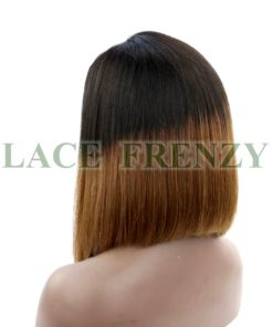 Justine - 12 Inches - Ombre' Bob Styled - Brazilian Virgin Hair- Lace Front Wig