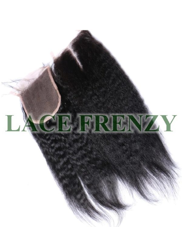 Kinky Straight- 4x4 Inches - Lace Top Closure