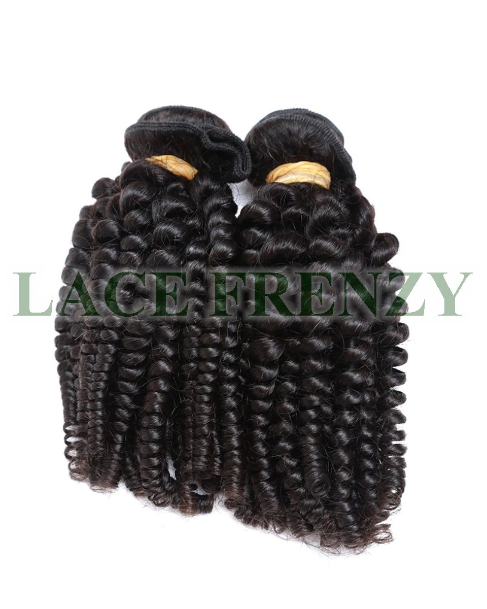 Grade 8A Virgin Hair - Tight Curls - 200G Machine Weft Bundle Kit