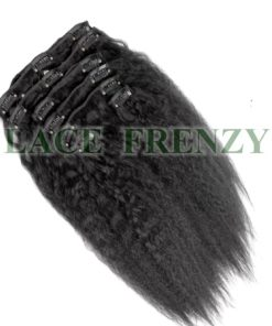 Grade 7A Virgin Human Hair - Kinky Straight - 7pcs Clip-In Hair Extension