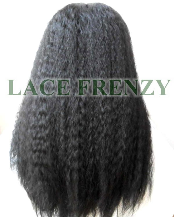Kendall - Kinky Straight w/ Center Part -Lace Front Wig