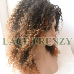 Sparkle - 16 Inches - Two Toned - Afro Kinky - Lace Front Wig