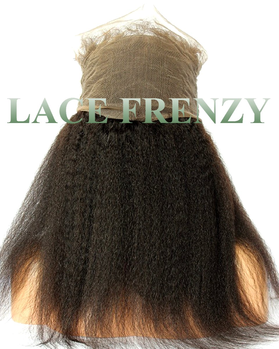 Virgin Human Hair-Kinky Straight -360 Lace Frontal