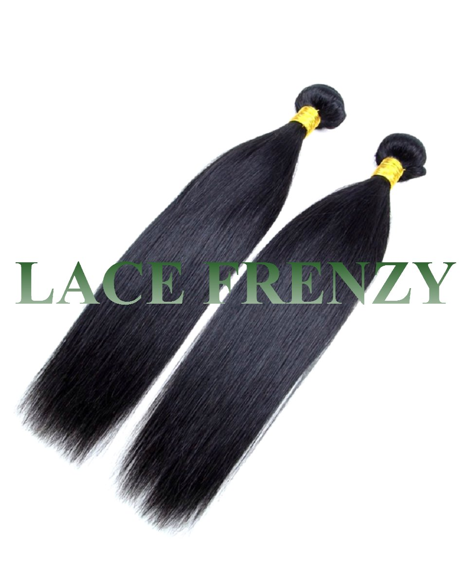 Grade 8A Virgin Human Hair - Silky Straight - 200G Machine Weft Bundle Kit