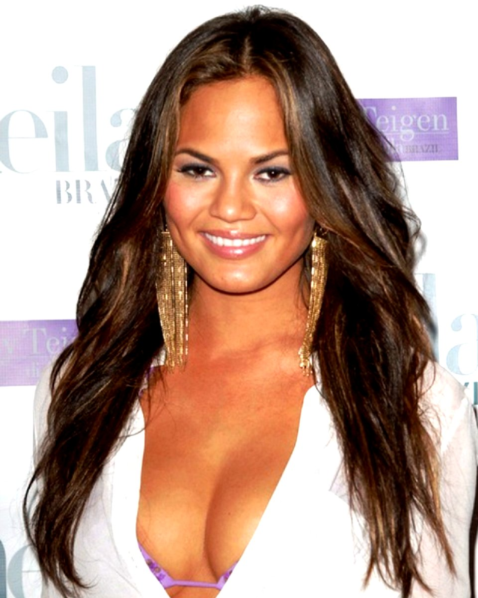Chrissy Teigen - Natural Straight - Custom Celebrity Lace Wig