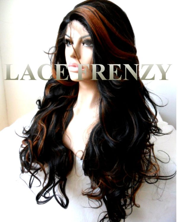 Dawn -24 Inches-Body Curls w/Highlights- Lace Front Wig