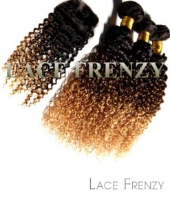 deep curly 4x4 inches lace closure and layered bundle hair kit