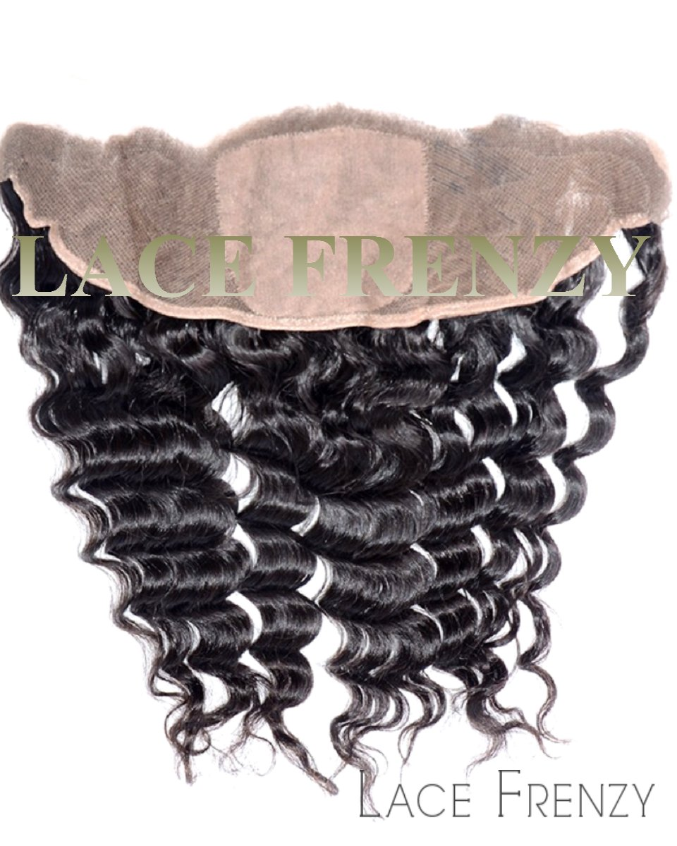 Indian Remy Hair - 13x4 Inches - Natural Straight - Silk Base Lace Frontal