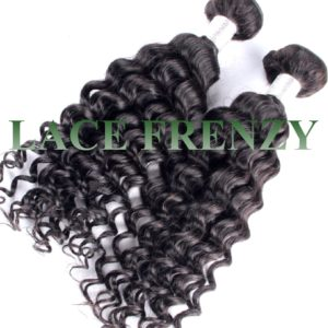 peruvian virgin hair- deep curly - 200g Machine weft bundle