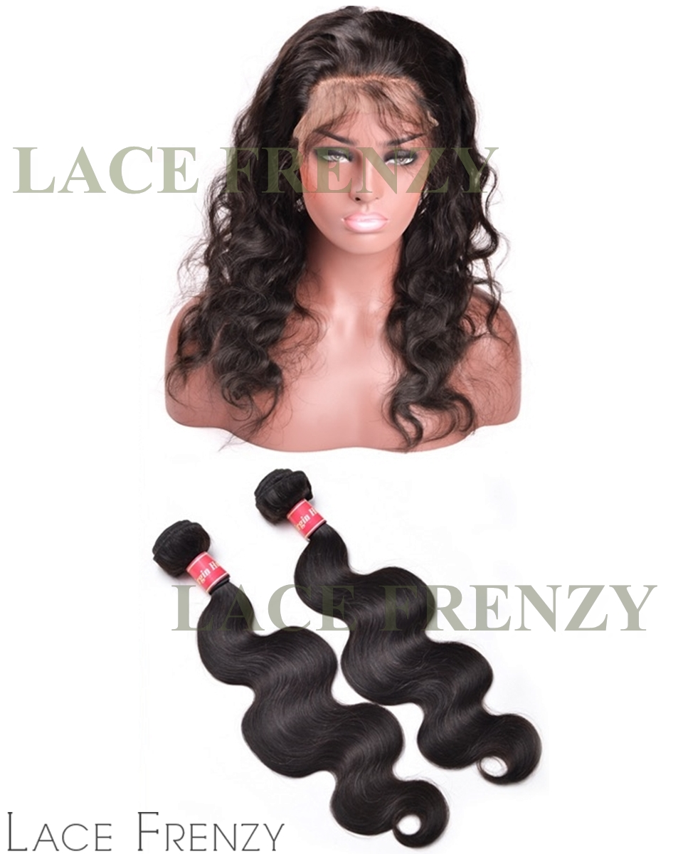 Indian Remy Hair - Body Wave - 360 Frontal with 2 Bundles