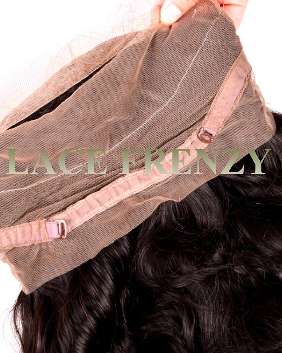 Brazilian Virgin Hair - Deep Curly- 360 Frontal With 2 -1373
