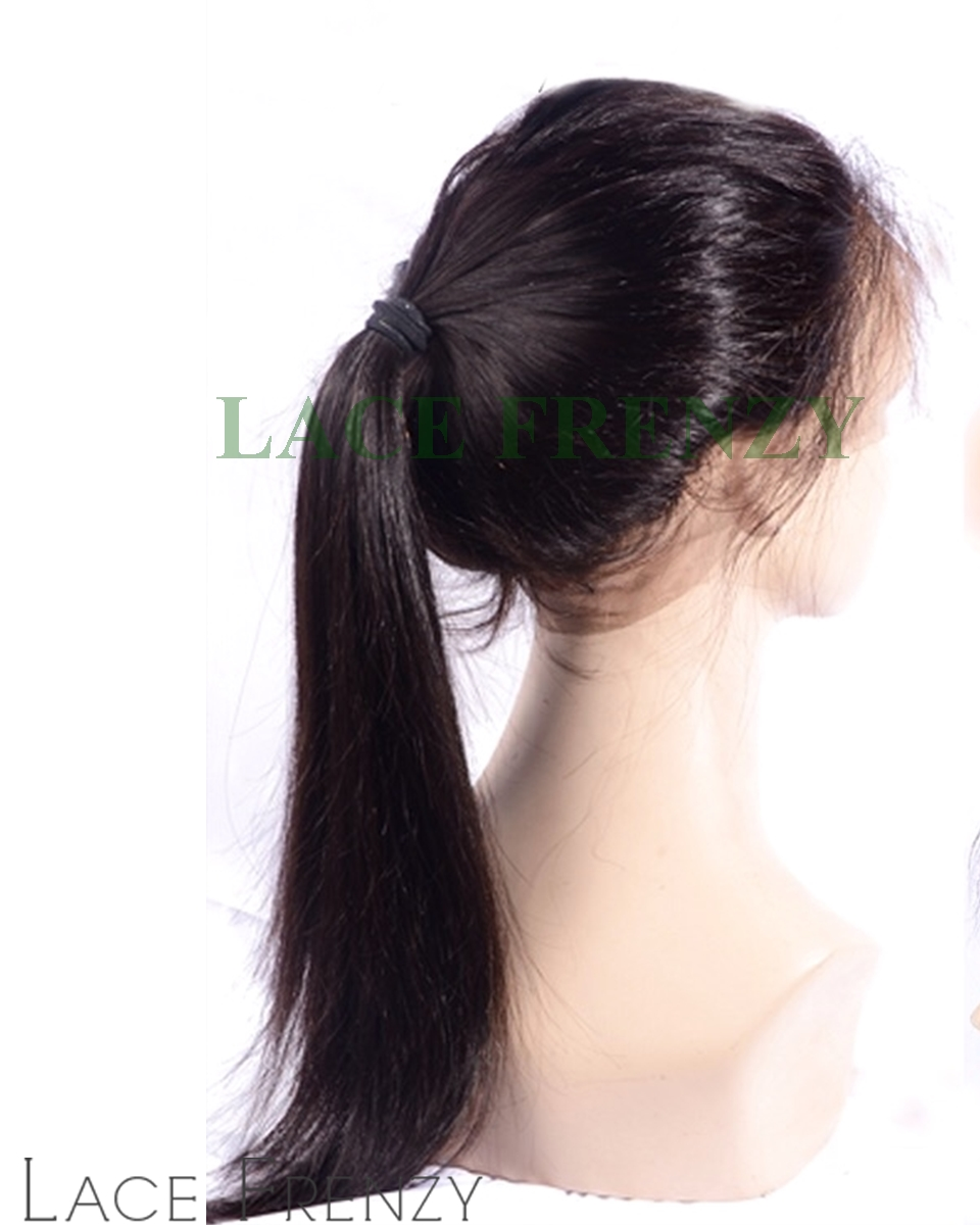 Virgin Human Hair Silky Straight 360 Lace Frontal