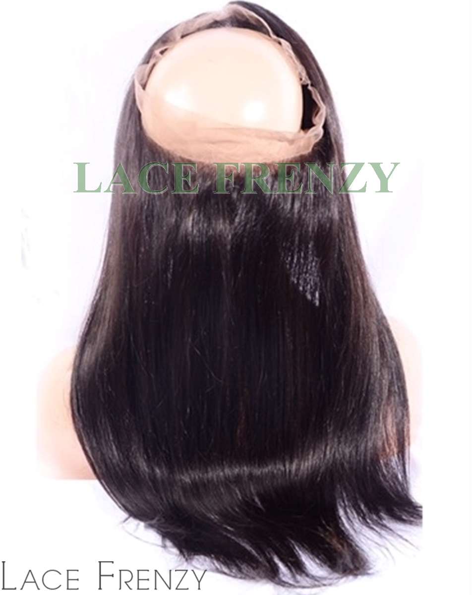 Virgin Human Hair - Silky Straight- 360 Lace Frontal