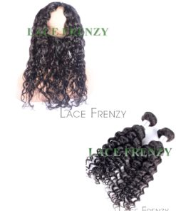 Virgin Human Hair - Wavy - Silk Base 360 Lace Frontal with 2 Bundles