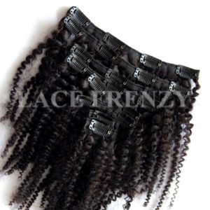 Virgin Human Hair - Kinky Curly - 8pcs Clip-In Hair Extension