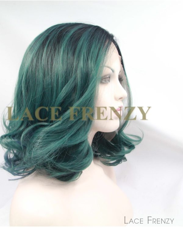 Lala -12 Inches - Two Toned Curly - Lace Front Wig