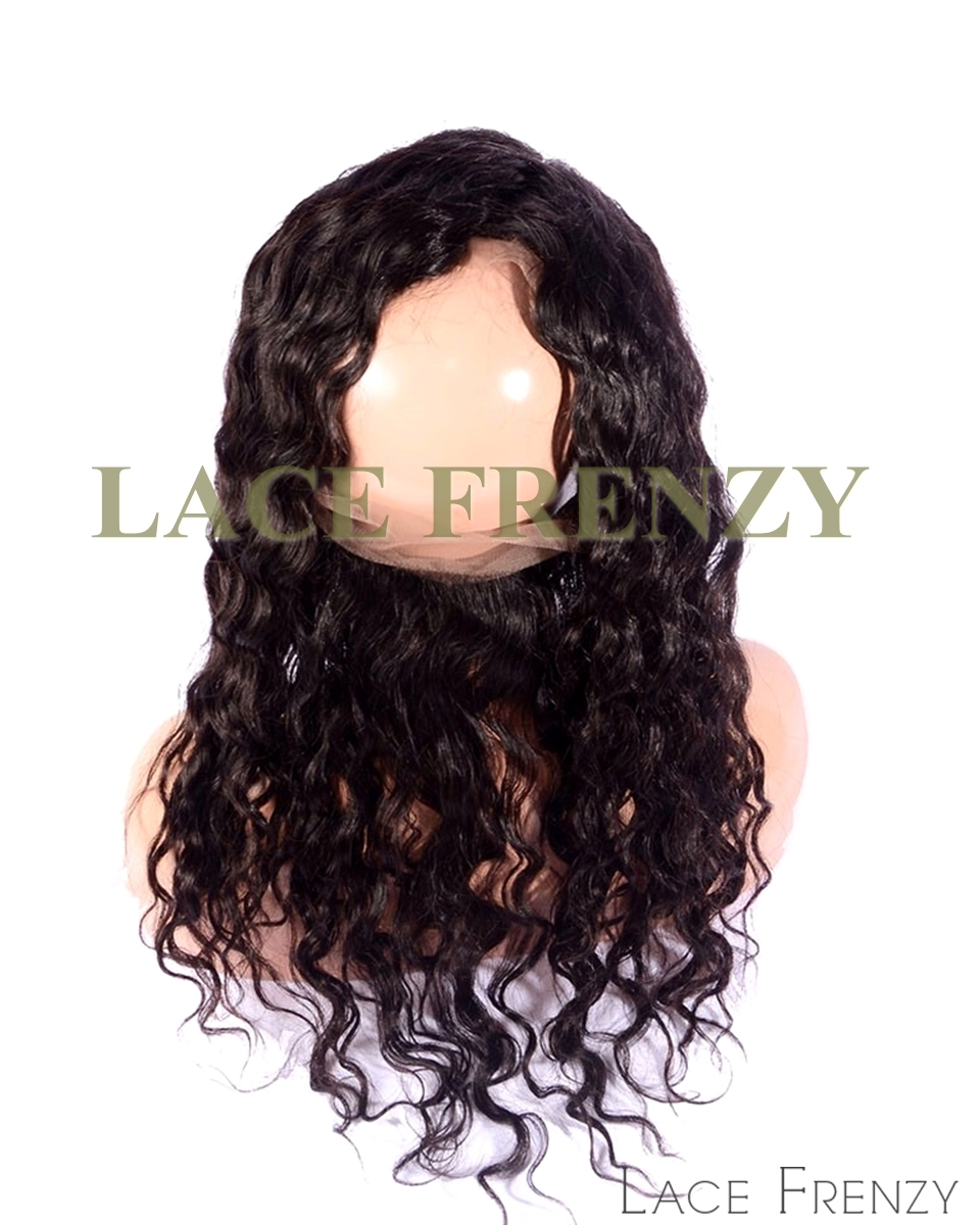 Virgin Human Hair - Deep Body Wave - Silk Base 360 Lace Frontal