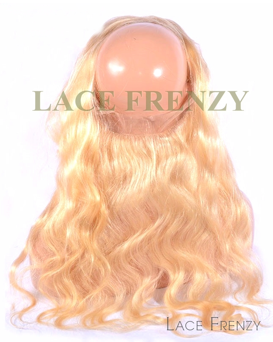 Custom Color - Brazilian Virgin Human Hair - 360 Lace Frontal