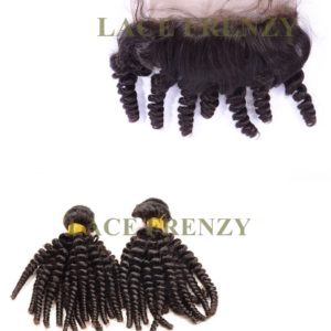 Peruvian Virgin Hair - Funmi Curl - 360 Frontal with 2 Bundles