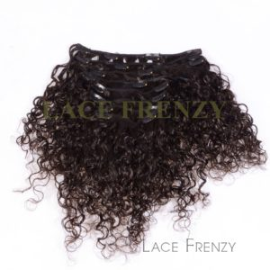 Virgin Human Hair - Curly - 8pcs Clip-In Hair Extension